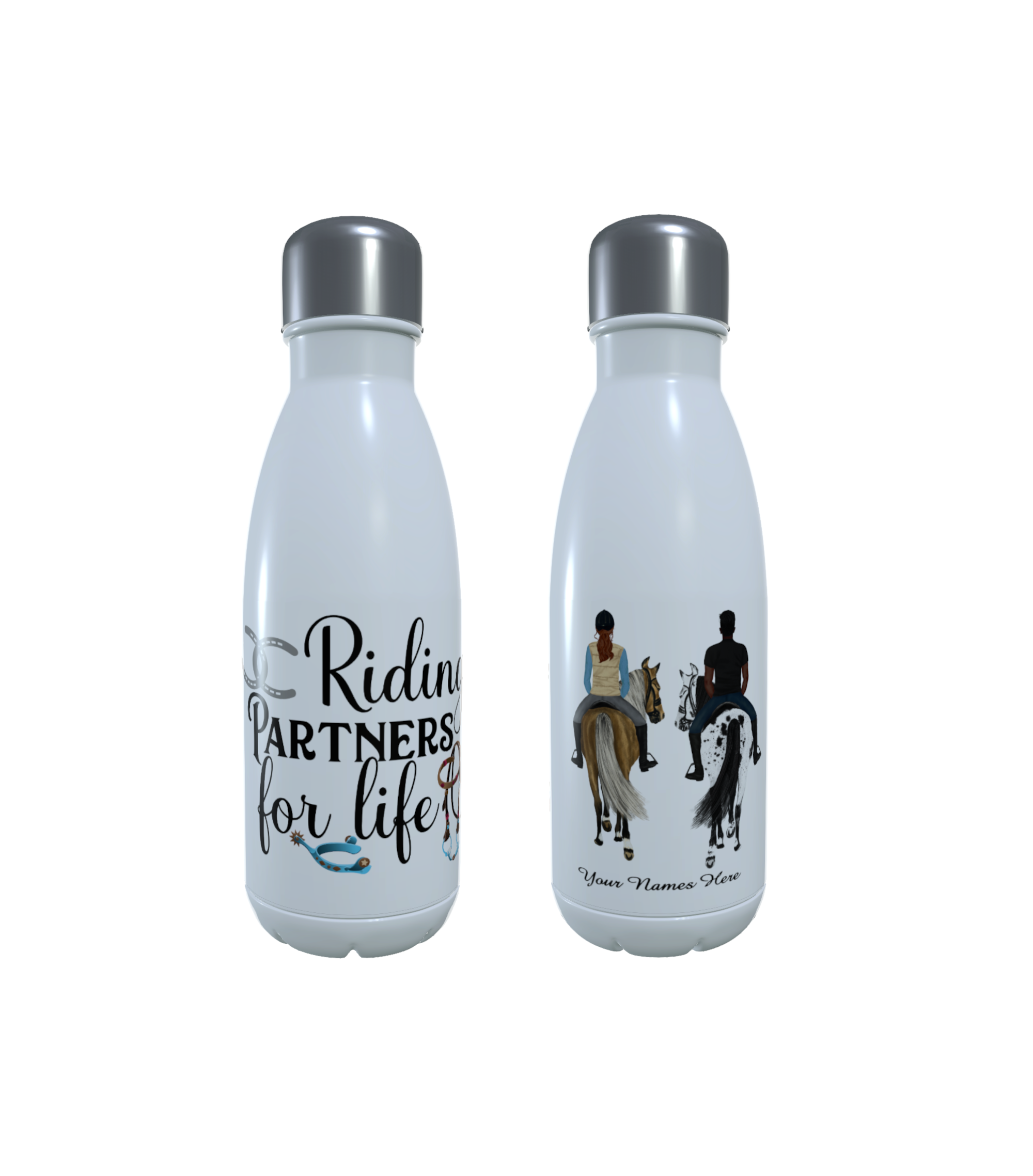 Horse Water Bottle, Personalised Thermos Bottle, Design Your Own