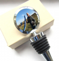 Custom Photo Bottle Stopper, Photograph Personalised Bottle Top