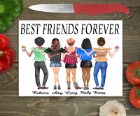 Summer Days Friends Large Glass Chopping Board