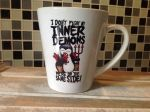 "Psycho Penguin ""I Don't Fight My Inner Demons"" Ceramic Latte Mug"