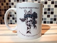 Giraffe Bandana Ceramic Mug - If my mouth doesn't say it ...