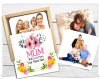 Mum Gift Box & Coasters, Family Coaster, Mum Drinks Mat