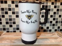 Bee Travel Mug - Save the Bees, Save the Earth