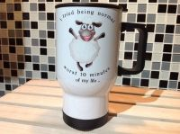 Sheep Travel Mug - I tried being normal, worst 10 minutes ....